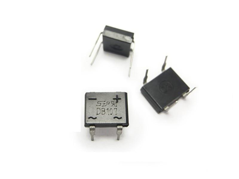 20PCS DIP-4 DB107 1A 1000V Single Phases Diode Rectifier Bridge NEW