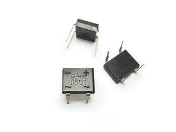 Puente de diodo DB107 DIP4, diodo monofásico de 1A y 1000V, rectificador electrónico, componentes, 50 unids/lote