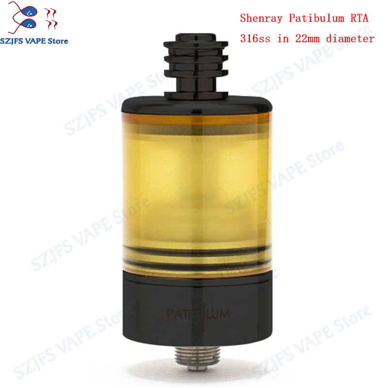 Patibulum RTA MTL Tank  22mm  3.5ml Atomizermouth To Lung Vape Tank Single Coil Disk Type AFC System Vape Mod Vaporizer VsKAYFU