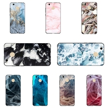 Phone Case for Xiaomi Redmi 4X Black TPU Cover 5.0 inch Ultra Thin Anti-Knock For Hongmi 4X Soft Shell Marble Pattern Coque