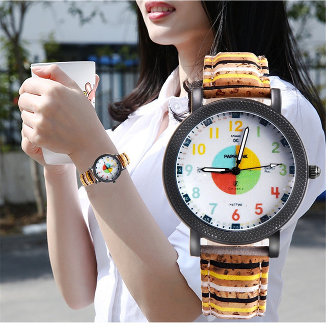 Fashion Couple Retro Bird Design Leather Band Analog Alloy Quartz Wrist Watch Br