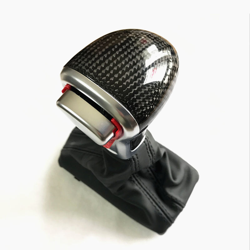 New Black Leather Chrome Gear Shift Knob AT Gaiter For Audi A3 A4 A5 A6 A7 Q5 C6 Q7 4GD 713 139 8KD 719 139 4F1 713 139