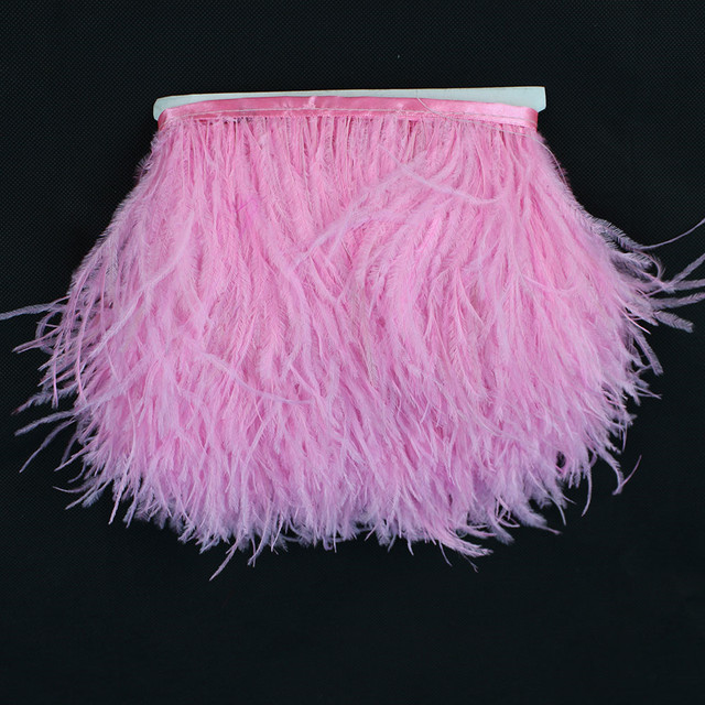 Buy 8 10cm pink feather trim ostrich for Where can i buy peacock feathers craft store