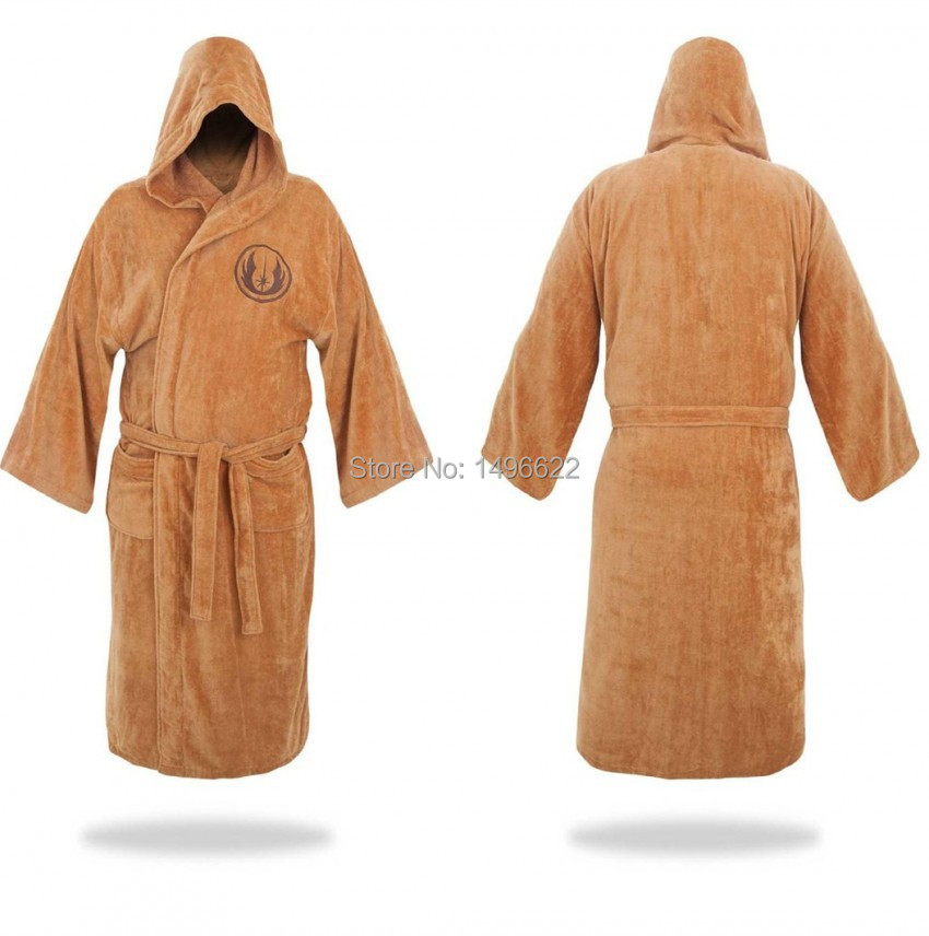 Star Wars Bathrobe Cosplay Star Wars Knight Jedi Bathrobe Brown Bathing Pajamas Cosplay Costumes