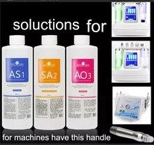 Жидкий кислородный аппарат для Аква пилинга, косметическая эссенция для лица, решения AS1 AO3 SA2, сыворотка 400 мл в бутылке