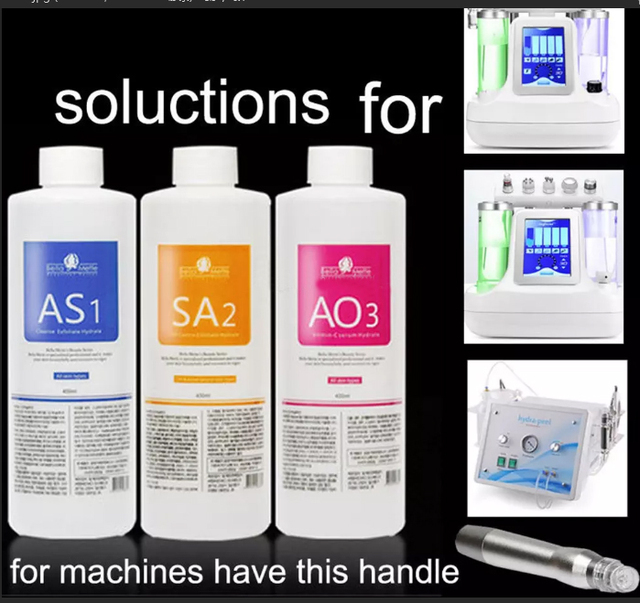 أكوا تقشير السائل الأكسجين ماكينة تجميل الوجه جوهر AS1 AO3 SA2 حلول مصل 400 مللي للزجاجة