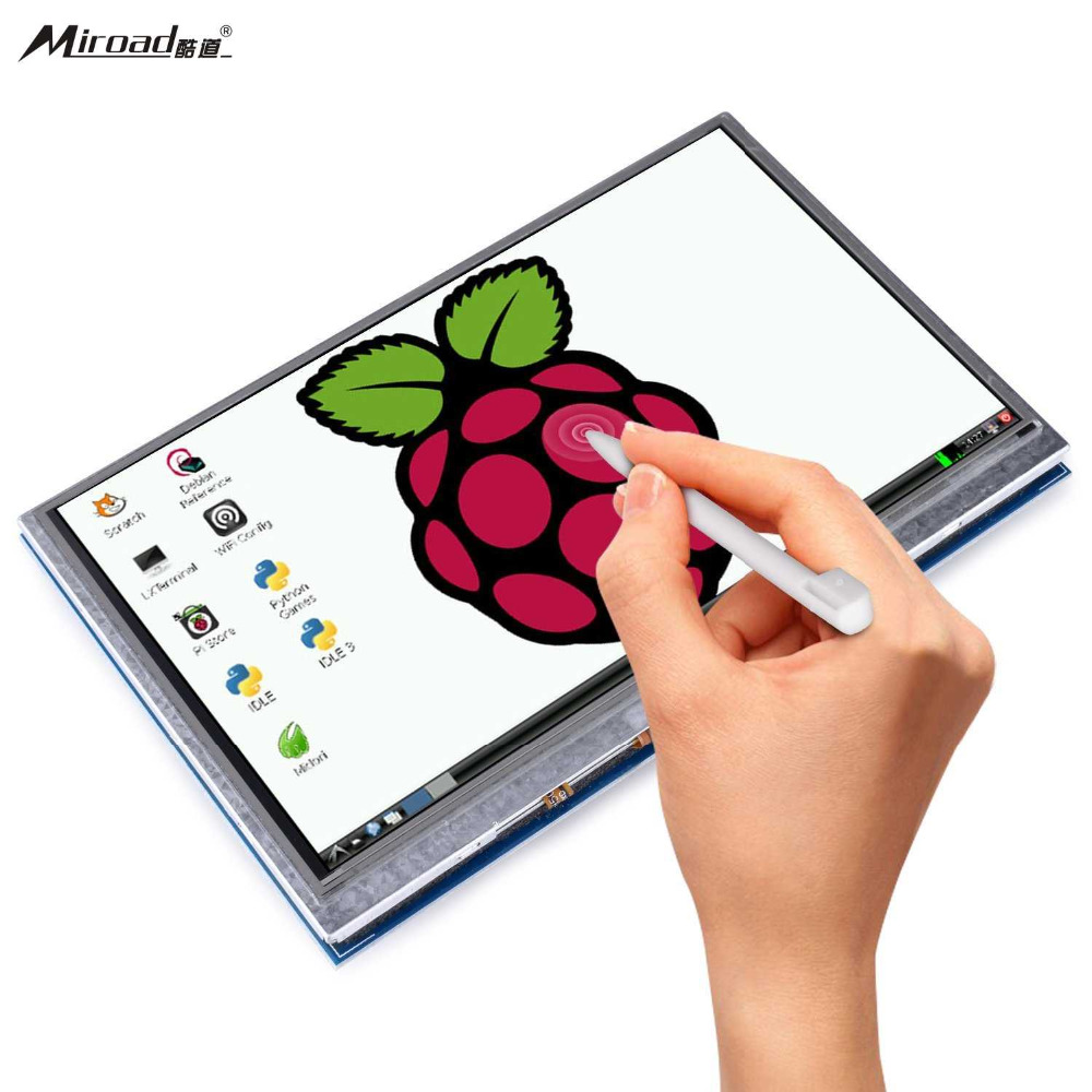цена на Miroad 5 inch Resistive Touch Screen 800x480 HDMI TFT LCD Display Module with Touch Panel USB Port for Raspberry Pi 3 SC5A