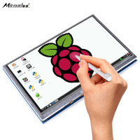 Kuman 5 Inch Resistive Touch Screen 800x480 HDMI TFT LCD Display Module With Touch Panel USB