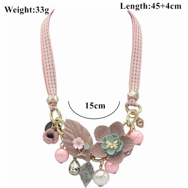 Olaru Brand Korea New Jewelry Fashion Cloth Imitation Flower Pearl Choker Neckalce Woman Maxi Statement Necklace Accessories 5