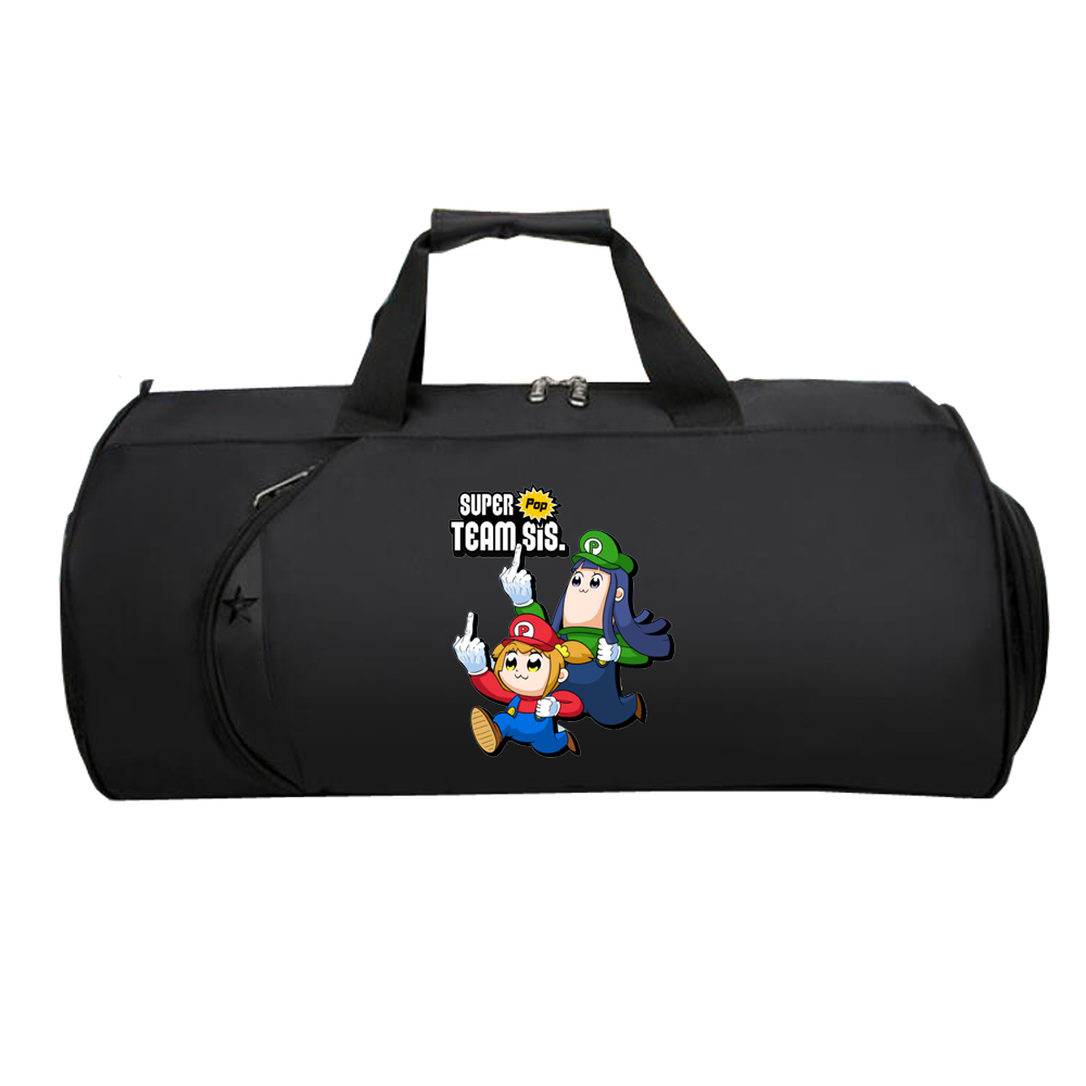 Anime Pop Team Epic Travel Luggage Bag Teenagers Multifunctional Large Capacity Bag Men Women Hand Duffel Travel Luggage Package