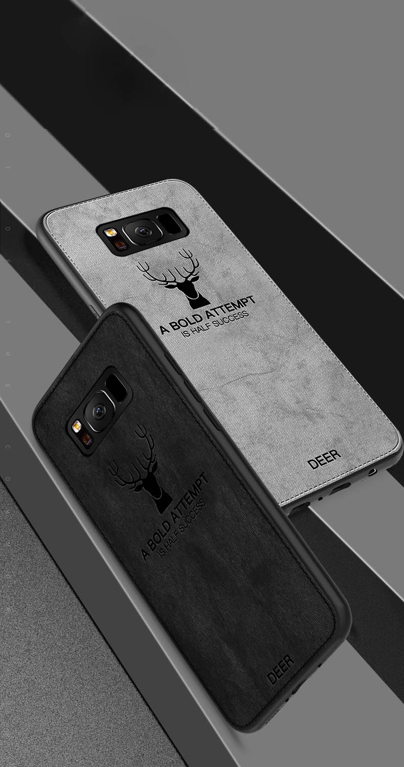 Fabric Leather Soft Phone Cases For Samsung Galaxy S8 S9 Plus S7 Edge A6 A8 Plus  J3  J5 J7  Note 8 9 Case