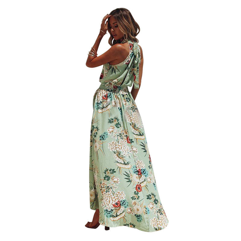 Beach Fashion Bohemian Floral Women 39 s Sundress Sexy Summer Dress for New Year Vintage Beach Outing 2019 Casual Long Clothing in Dresses from Women 39 s Clothing
