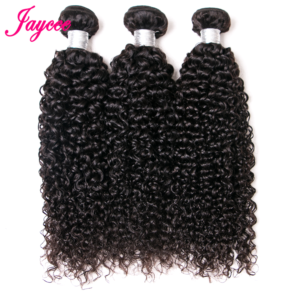 Jaycee Hair Brazilian Curly Wave Nature Color Remy Hair 8-26 Inch Human Hair Weave Bundles Can Dying All Color