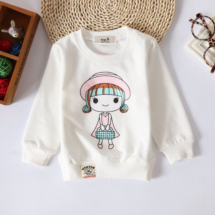 Baby Toddler Spring Autumn Tops Fashion Audel Cotton Sweatershirt Long Sleeve Tshirts Winter Bottoming Shirt G135