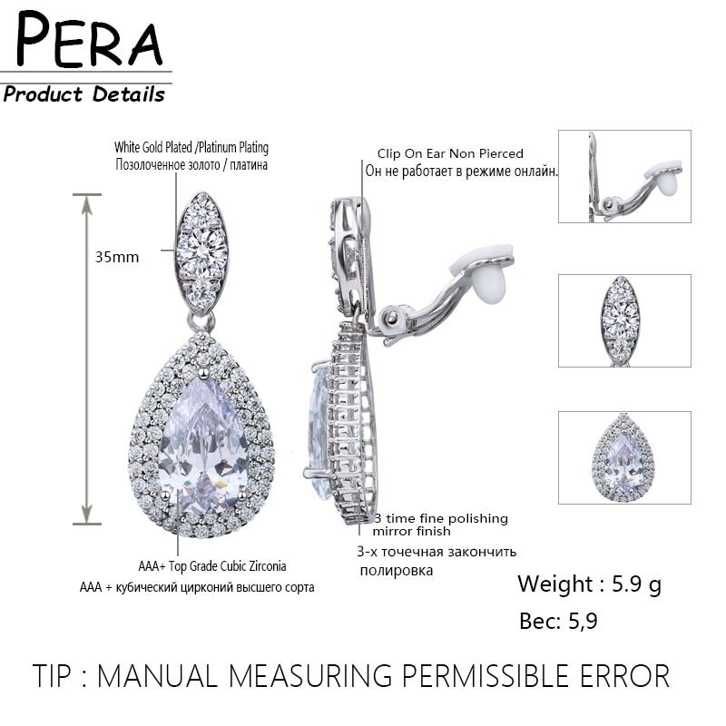 Pera Big Dangle Drop Cubic Zirconia Stone Әйелдер - Сәндік зергерлік бұйымдар - фото 6