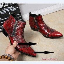 Мода Итальянский Дизайнер Формальные Ботинки Мужчины Кожа Красное Вино Партии Свадебная Обувь Военные ботинки Мужчины Квартиры Офис Zapatos Hombre