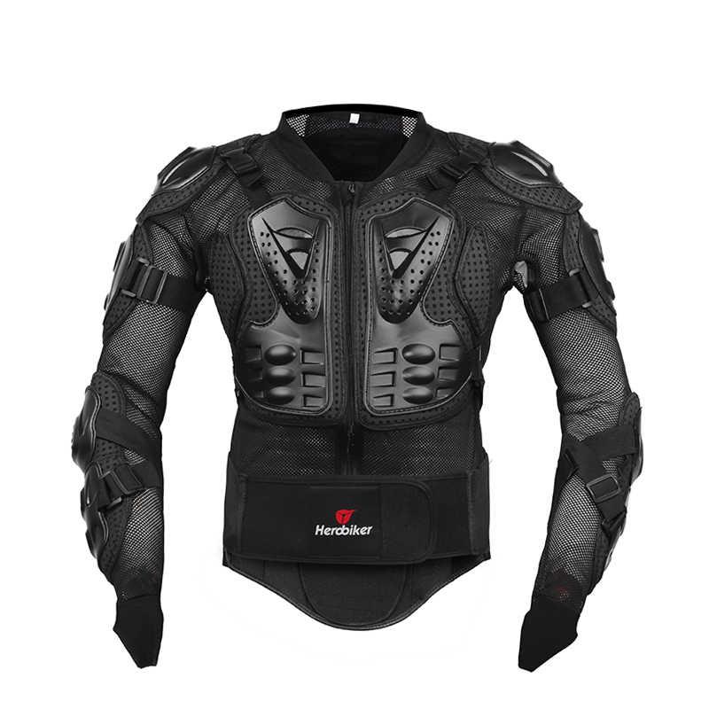 HEROBIKER motosiklet ceket tüm vücut zırhı motosiklet göğüs zırh Motocross yarış koruyucu donanım Moto koruma S-5XL