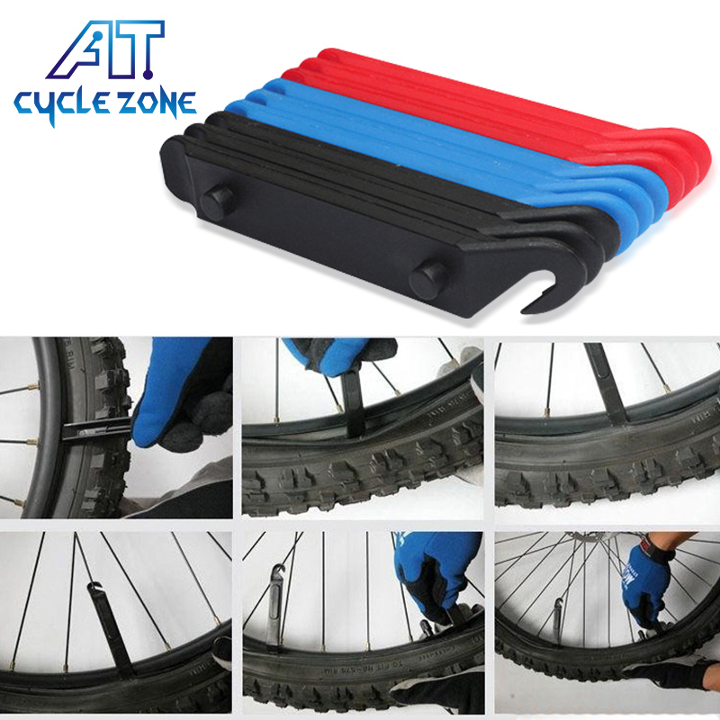 Cycle Zone 4 PCS Colorful Bicycle Bike Tire Tyre Repair Tools Kit Cycling Tyre Levers Opener Pry Pants Tire Repairing Tools