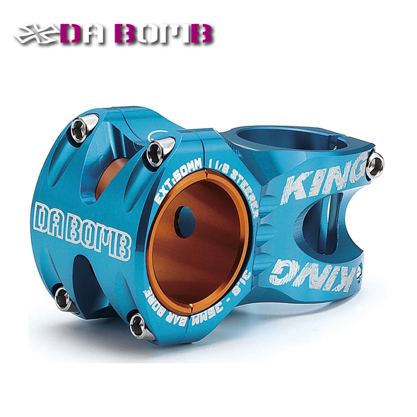 DABOMB KING moutain bike stem MTB FR AM bicycle stem CNC Aluminum Anodized color2 in 1 design in 31.8mm or 35mm Blue length 50mm 10mm aluminum bike bicycle toothed headset stem spacer blue