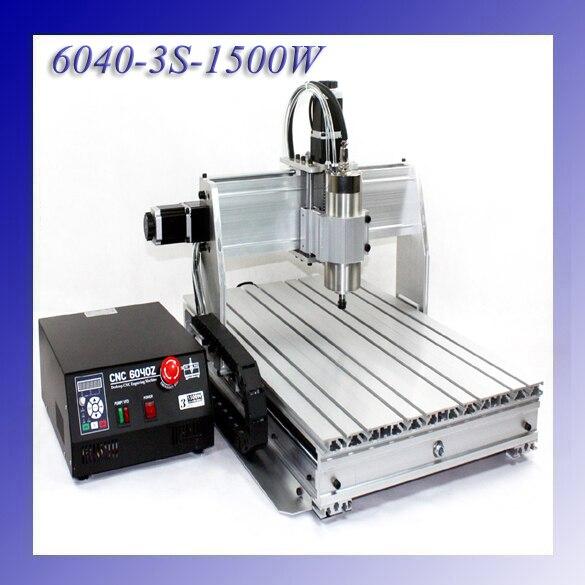 1.5KW 1500W  3 Axis CNC Engraver Engraving Cutting Machine CNC 6040 Z-3S панель декоративная awenta pet100 д вентилятора kw сатин