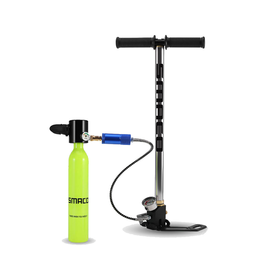 2019 NEW Diving Equipment 0 5L Mini Scuba Diving Oxygen Tank Hand Operated Pump Underwater For