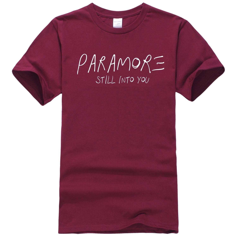 ᐃHombres moda T Camisas paramore todava en yout para los amantes