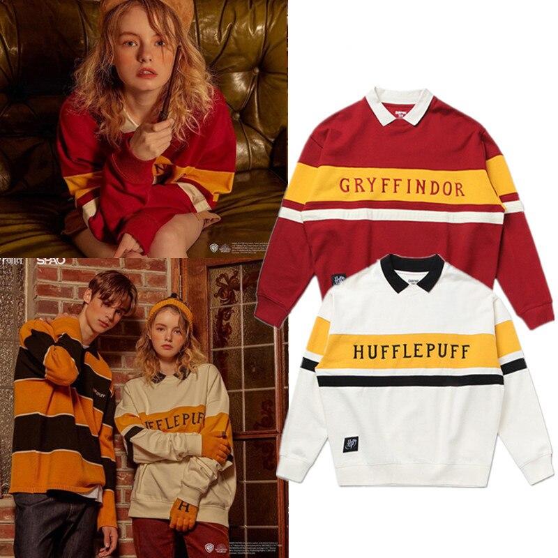 Mode chandail potier Couple chandail magique école uniforme médaille marée collège Quidditche décolleté cadeaux d'anniversaire