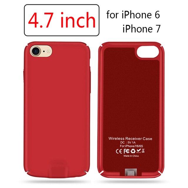 innovative design 9eef9 6c109 6 Plus Receiver Case for iPhoen 6 6S 7 Wireless Charging Lighting Wireless  Charger Receiver for Apple iPhone 7 Plus Cases Cover