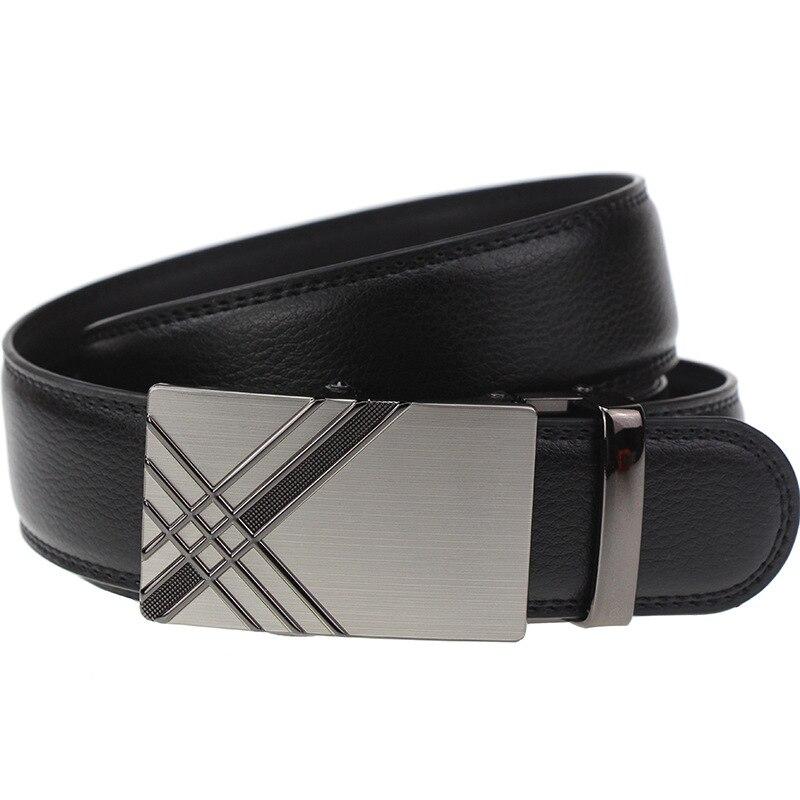 Новый бренд дизайнерские ремни Формальное корова натуральная кожа ремни для мужчин Автоматическая сплава пряжки черный коричневый цвет ра...