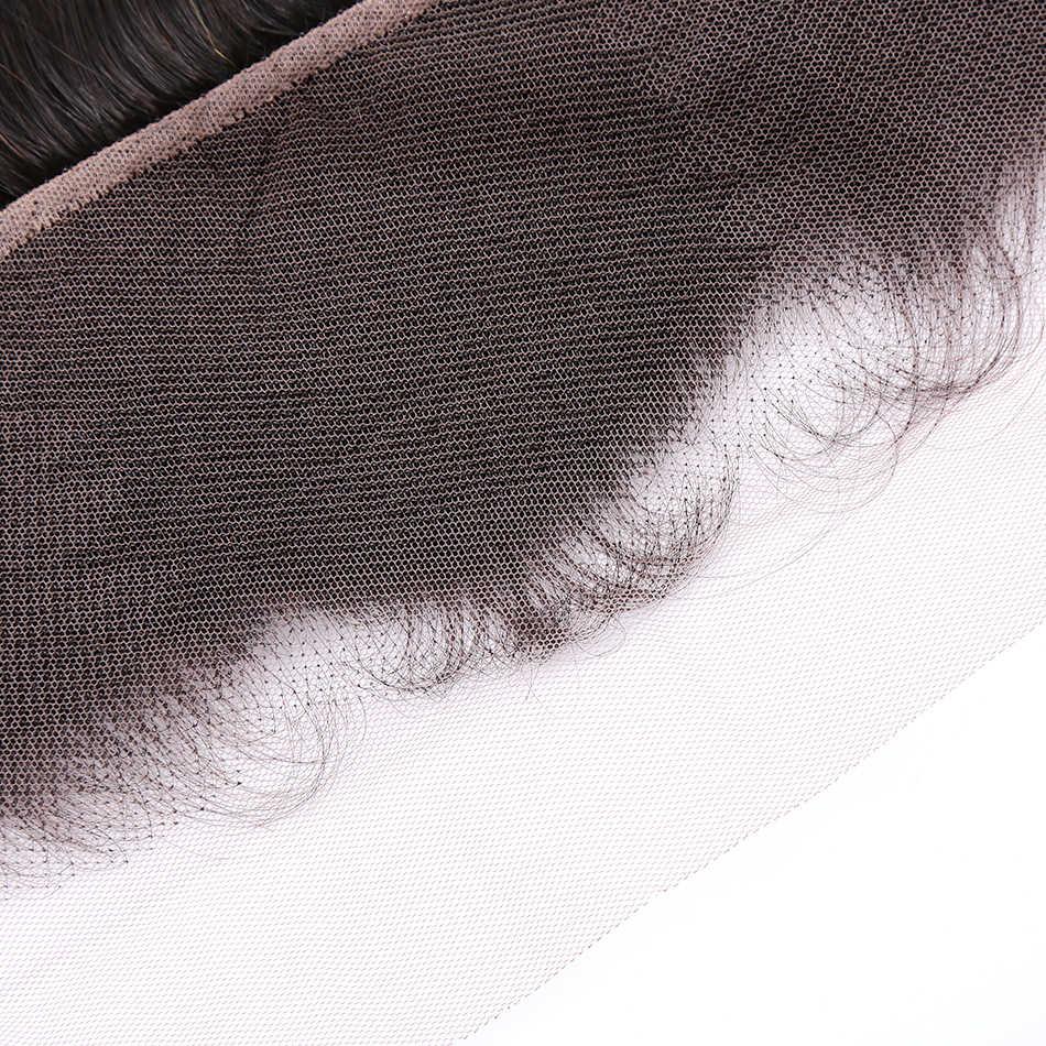 Cabello Instaone 3 paquetes de onda profunda brasileña con Frontal 13*4 parte libre oreja a oreja encaje Frontal virgen paquetes de cabello humano