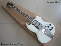 Custom Shop Gbson electric Guitar Customization ,SG Guitar 3 pickups and super vibrato bridge,mahogany body and headstock