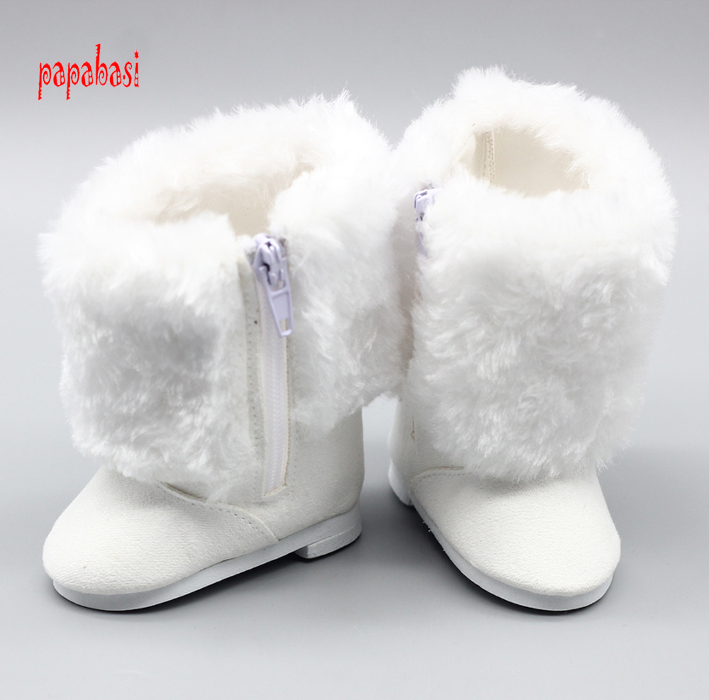 18 inch 45CM American Girls Dolls Fur Snow Boots shoes for Alexander doll accessory baby born doll girl gift [mmmaww] christmas costume clothes for 18 45cm american girl doll santa sets with hat for alexander doll baby girl gift toy