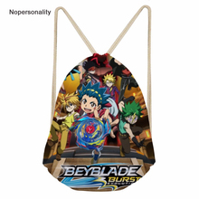 Nopersonality Cartoon Drawstring Bag Anime Beyblade Burst Evolution Schoolbag for Kids Small Backpack Children Beach Sack Bags