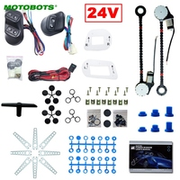 MOTOBOTS 1Set Universal DC24V Truck Bus 2 Doors Electric Power Window Kits 3pcs/Set Switches & Wire Harness