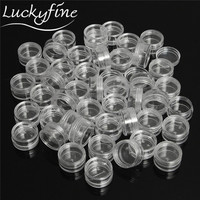 50Pcs Plastic 5ml Cosmetic Jar Empty Eyeshadow Case Face Cream Bottles Glitter Container Eye Shadow Empty