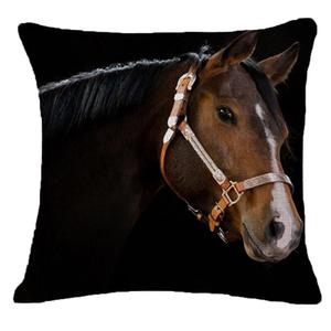 Image 2 - Creative Pillow Fashion Cartoon Animal Horse Home Decor Cotton Linen Cushion Cover 45cm*45cm #35