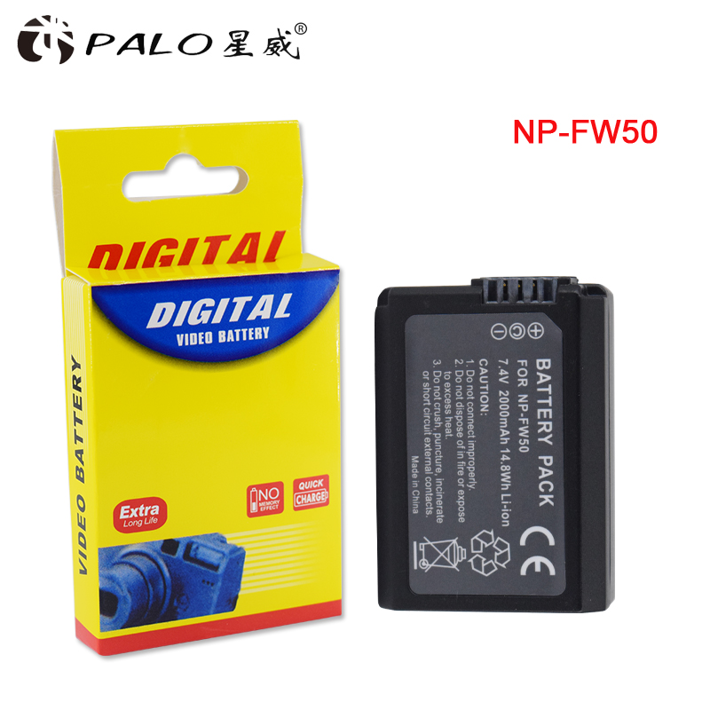 1pc 7.4v 2000mAh NP-FW50 NP FW50 NPFW50 Replacement battery For Sony Alpha 7 a7 7R a7R 7S a7S a3000 a5000 a6000 NEX-5N 5C A55