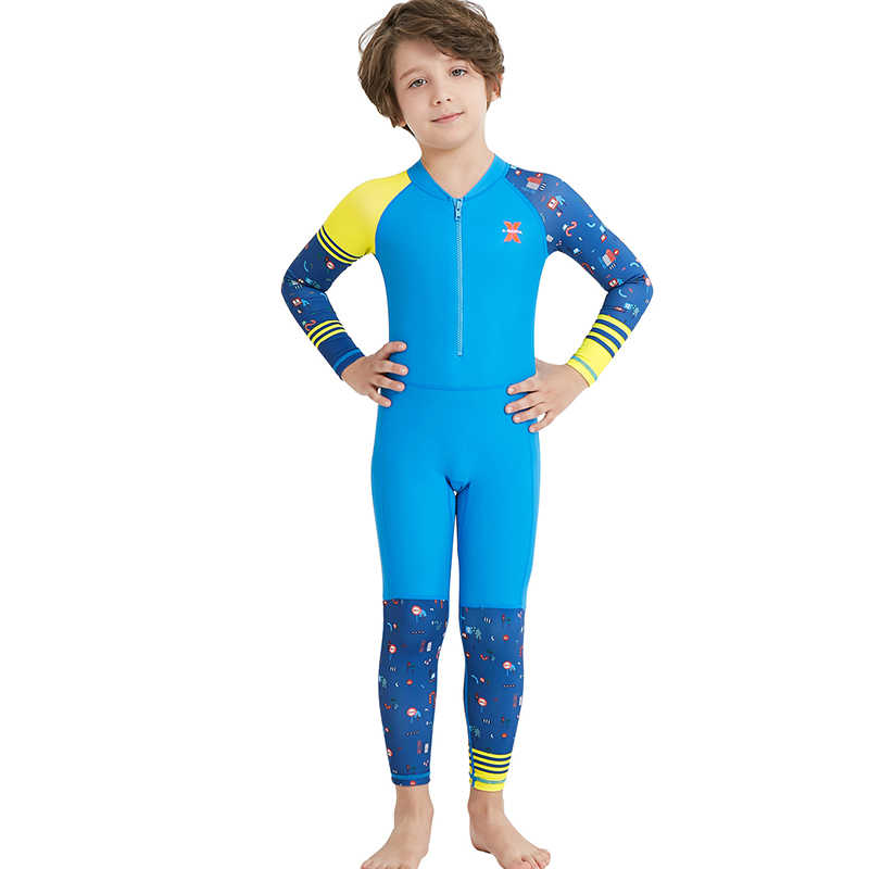 864d8c7c14 ... 2019 Girls Diving Suit Kids UPF50+ Diving Wetsuit UV Protection Thermal  Boy Swimwear Elastic Long Swimsuits ...