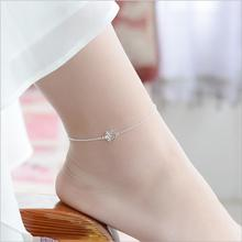 TJP Cute Snowflake Women Silver Anklets Jewelry Top Quality 925 Bracelets For Lady Female Wedding Party Accessories Bijou
