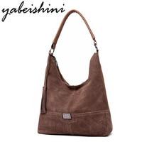 YABEISHINI Brand Women Leather Handbags Lady Large Tote Bag Female Faux Suede Shoulder Bags Bolsas Femininas Sac A Main 2019
