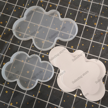 Cloud Shape Flat Tray Silicone Mold Tea Cup Candle Holder Crafts Aroma Gypsum Pl
