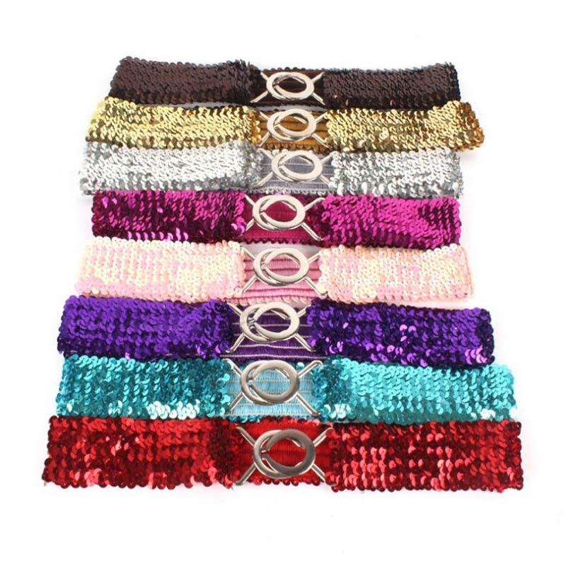 Ladies Belt 7CM Wide Elastic Band/women's Fashion Glitter Elastic Band/gold And Silver Elastic Belt/skirt Belt Waist Cover
