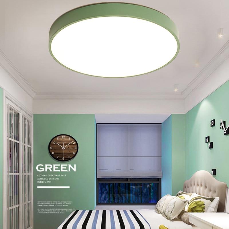 LED Ceiling Light Modern Lamp Living Room Lighting Fixture Bedroom Kitchen Surface Mount Flush Panel Remote Control