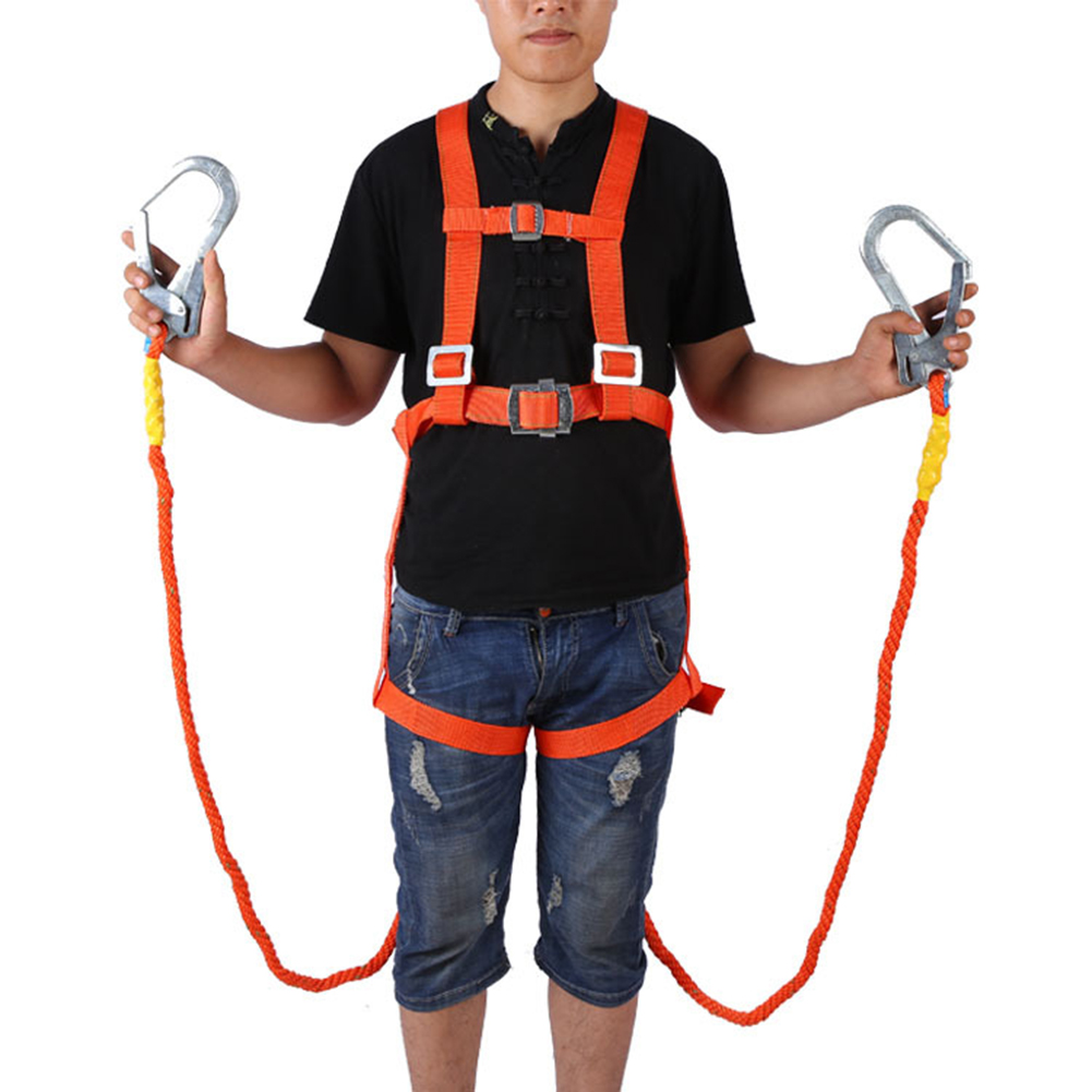 2.5m Aerial Work Safety Belt Five-Point Safety Fall Protection Adjustable High-Altitude Insurance Belt Cushioning Belt
