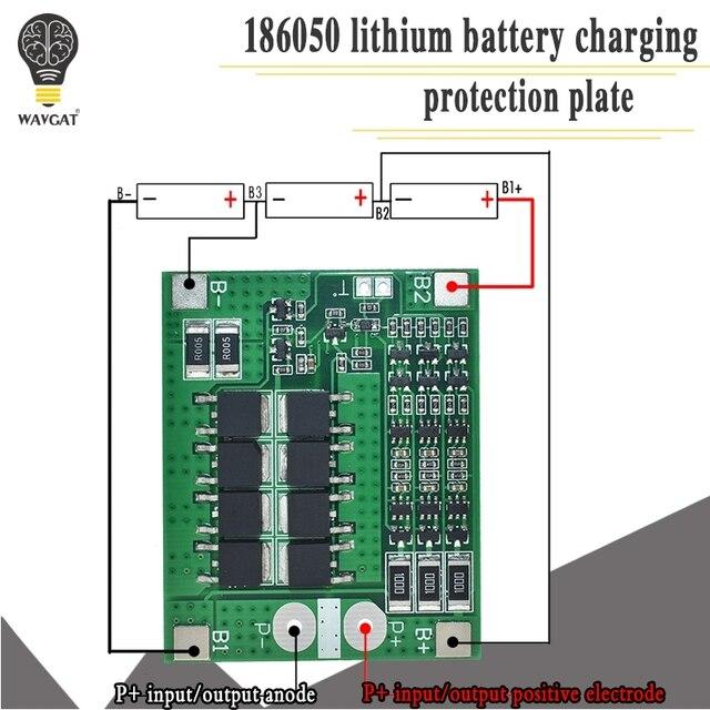 3 S 25A Li-ion 18650 BMS PCM Placa de protección de batería bms pcm con balance para batería li-ion lipo