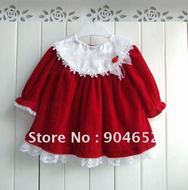 244963d19 wholesale 2012 Winter brand design baby girl s Christmas velvet ...