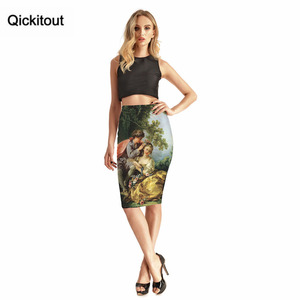Image 3 - Qickitout Skirts 2016 New Hot Products Womens Sexy Forest Tree Cute Kids 3D Print Skirts High Waist Package Hip Skirt Drop Ship
