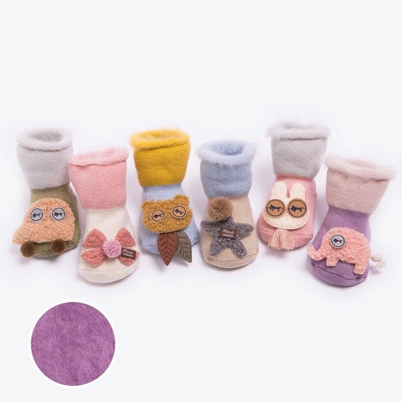 Lawadka Brand Infant Baby Socks Newborn Cotton Cartoon Terry Baby Socks Winter Girls Boys Anti Slip Socks Shoes