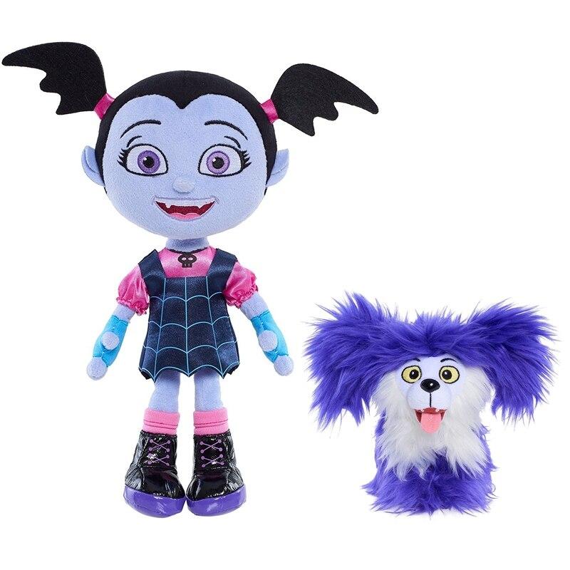 Ausdrucksvoll Junior Vampirina Gefüllte Plüsch Puppe Spielzeug 20-25 Cm Die Vamp Batwoman Mädchen Cartoon Hunde Spielzeug Brinquedos Tasche Teile Zubehör Stabile Konstruktion