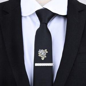 الرجال التعادل كليب الفضة الأزياء 10 بسيطة قصيرة الذكور طوق 4 سنتيمتر